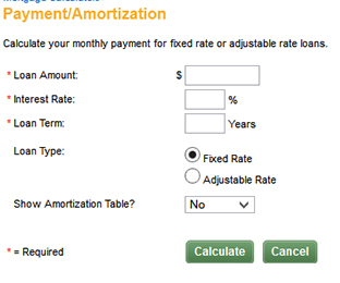 mortgage loan calculator/